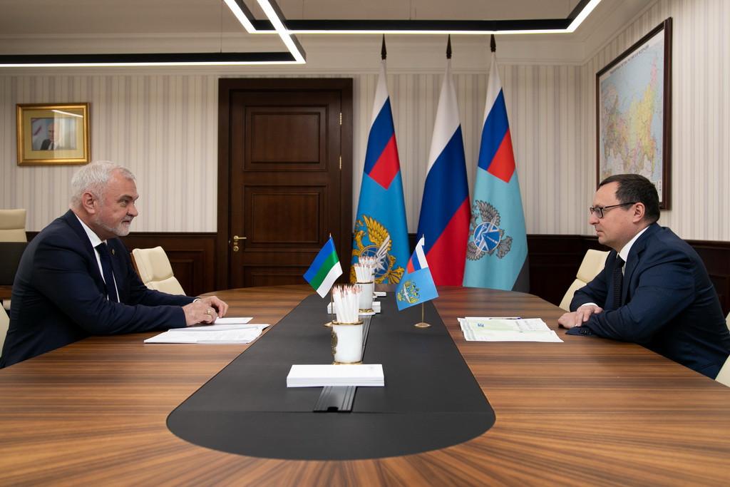Владимир Уйба и глава Росавтодора Андрей Костюк обсудили развитие дорожной отрасли Республики Коми
